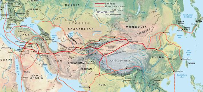 silk road trade routes The beginning of the silk road was the height of trade in antioch antioch was a big trading area, because it was at the intersection of two trading routes, the north-south and east-west routes.