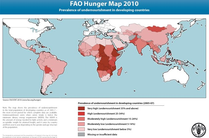 information about malnutrition and poverty in developing countries should be spread more vigorously  Developing countries are likely to be affected the most, and be least able to adapt quickly as a result, the number of years of life lost from climate change in poor african countries is predicted to be 500 times higher than that in europe.