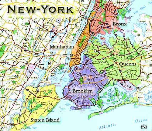 New York City Global Sherpa - New york city map with boroughs